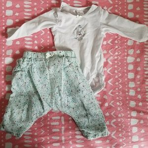 H&M organic cotton bunny set